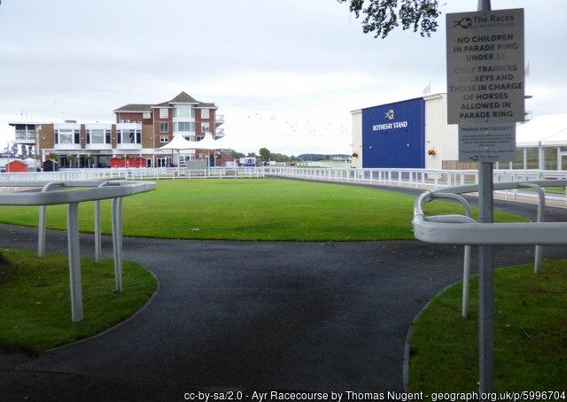 Ayr Racecourse Parade Ring