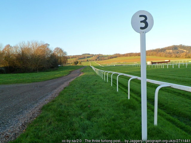 Chepstow Racecourse 3 Furlong Post