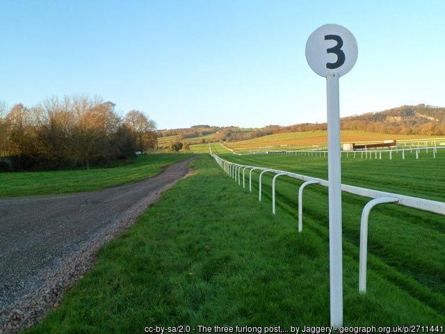 Chepstow Racecourse 3 Furlong Post